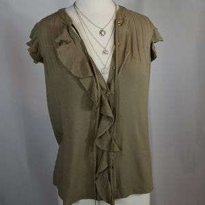 Tops - Sleeveless Olive Top
